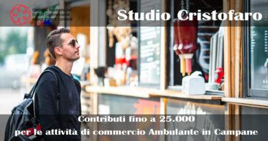 Contributi Commercio Ambulante in Campania